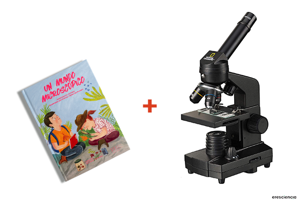 kit microscopio y libro