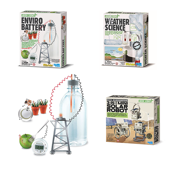 Kits de experimentos Green Science